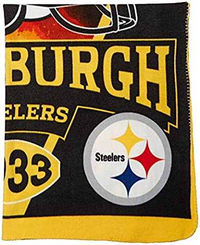 NFL Pittsburgh Steelers Banner Printed Fleece Throw, 50-inch by 60-inch