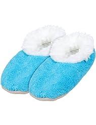 Alsino Damen Snoozies Hausschuhe plüsch über 15 MODELLE Snoozies ANTI RUTSCH ABS Kuschel Puschen Winter kuschelig weich bunt Damenhausschuhe