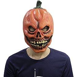 Máscara Deluxe látex caucho cabeza de calabaza máscara Terror Halloween