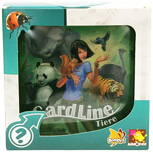 BOMBYX 002879 - Reisespiel - Cardline Tiere, Mehrfarbig