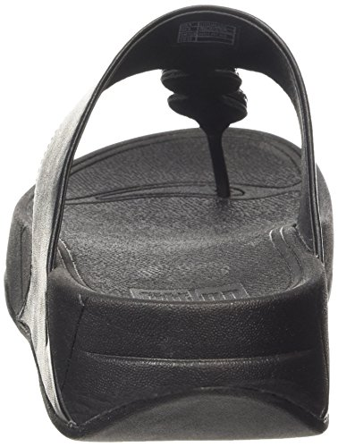 FitFlop Petra (Sugar) Damen Plateausandalen Black (All Black 090)