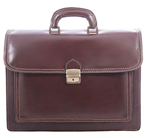 CTM cuir travail Sac Porte-documents Documents hommes , 41x31x18cm , 100 % cuir véritable Fabriqué en Italie