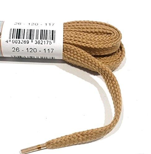 1 Par Ringelspitz Cordón beige - rendondo - fino - Ø 2,5 mm - beige, 90 cm