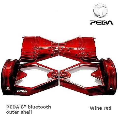 'Peda New 8DIY inteligente Incluso Balancing Carcasa Case–Patinete eléctrico (2ruedas Outer Shell Accesorios de recambio, rojo, 8