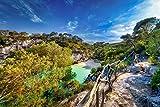 Voss Fine Art Photography Isla Menorca. Badebucht Solitaria en Bonito Luz Solar, Impresión de Obras de Arte en Soporte Dibond, 60 x 40 cm