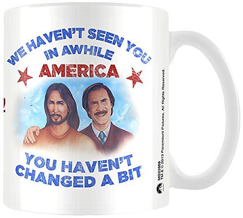 Anchorman 2-Ron und Jesus Tasse aus Keramik (Kanal 2 News)