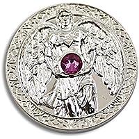 Engeltaler Chamuel Schutzengel Talisman der Liebe versilbert mit Kristall, Ø 27mm, Glücksbringer Glücksmünze Engel preisvergleich bei billige-tabletten.eu