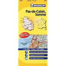 Michelin Map France: Pas-de-Calais, Somme 301 (1:150K) (Maps/Local (Michelin)) (English and French Edition) by Michelin (2011-01-16)