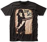 Joan Jett–para Hombre Bad reputación Big Camiseta de la Impresión Negro Negro Large