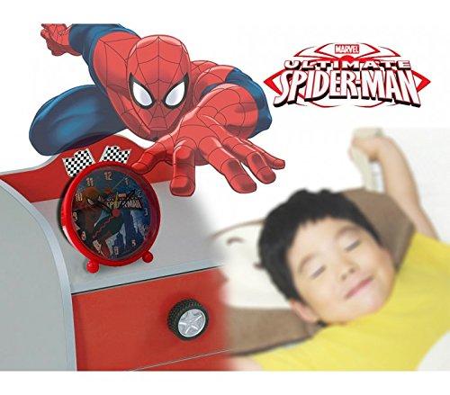 Reloj despertador infantil para niño y niña con motivo de SPIDERMAN - Marvel MV16057 – mws1986