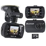 Telecamera per Auto, Dash Cam HD Auto DVR Video Visione Notturna Lenti con G-Sensor Rilevatore di Movimento con Carta di 16G