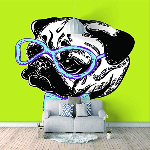Benutzerdefinierte Tapete 3D Hund Mit Brille Moderne Wohnzimmer Tv Hintergrund Wandbild Home Decoration