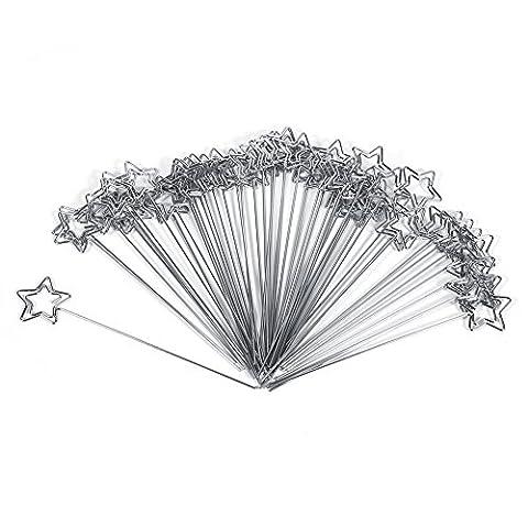 50 Stück Memohalter Memo Clip Büroklammer Foto Clip DIY Handwerk Halter aus Metall für Karte Memo Hochzeit Dekoration (Stern Form)