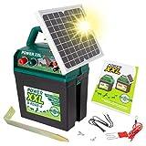 Power XXL Elettrificatore ad energia Solare B 9.000-S, da 9 V/12 V, con Pannello Solare Molto efficiente, per recinti per Cavalli e Pony