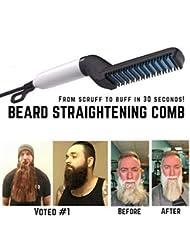 luoOnlineZ Men Quick Beard Straightener Comb multifonctionnel cheveux Curling Curler Voir Cap Outil