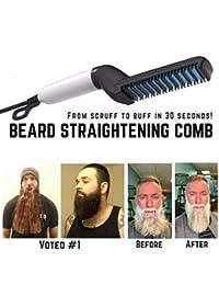 Dastrues Los Hombres la Barba rápida enderezadora Styler Peine Multifuncional rizador de Cabello Mostrar Herramienta de Tapa