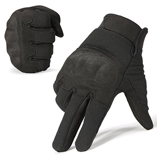 WTACTFUL Classic Touch Screen Hard Knuckle Protective Full Finger Gloves for Motorcycle Motorbike ATV Cycling Bicycle Riding Hunting Work Outdoor Sports