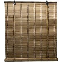 FERIA LIU 6 Modelos 14 Medidas de estores de bambú Cortina de Madera persiana Enrollable (