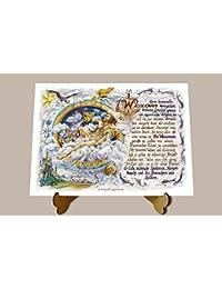 Geschenk Seemann Matrose Seefahrer Gedicht Zeichnung Color 20 x 15 cm