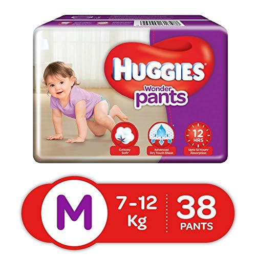 Huggies Wonder Pants Diapers, Medium (Pack of 38)