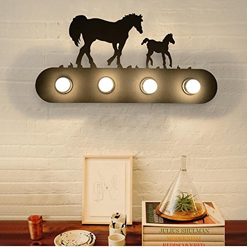 ZQ@QX Parete decorativa tradizionale semplice hotel café ristorante lampada da parete Annata semplicità creativa Happy Valley