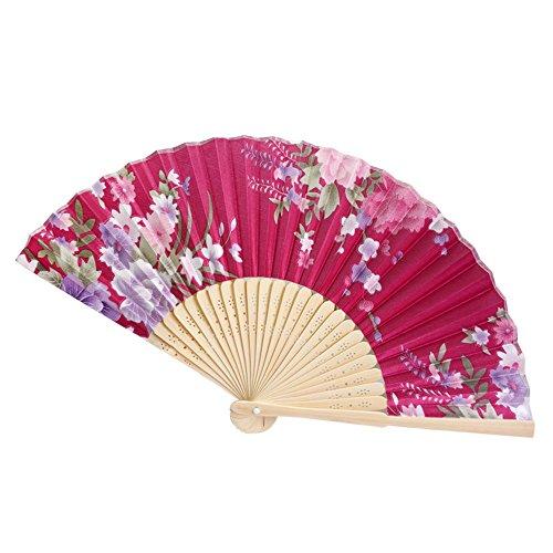 DQANIU- Bambusfächer, Haus & Garten -> Werkzeuge & Heimwerker, Vintage Bambus Falthandblumenfächer Chinese Dance Party Pocket Gifts