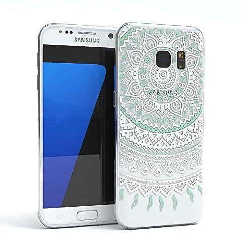 EAZY CASE Handy-Hülle für Samsung Galaxy S7 Weiß / Türkis