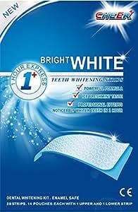 ONUGE 28 Whitestrips Zahnaufhellung Streifen (mit Advanced no-slip technology) professional bleaching für zähne Zahnweiss stripes, 1er Pack