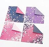 Leisial 60 Stücke Origami Papier Weihnachten Faltpapier Sakura Papierkran Blumen Faltpapier Klee 15*15 CM