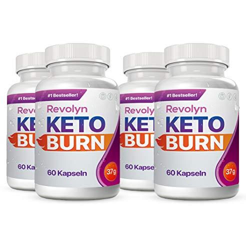 Revolyn Keto Burn - Diätpille für effektiven Gewichtsverlust (4 Flaschen) | Lieferung nach DE-AT nur 3 Tage (mit DPD)