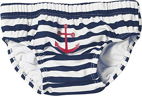 Playshoes - 460110 Jungen Schwimmwindel UV-Schutz Windelhose Maritim, Mehrfarbig (171 marine/weiß), 62/68 cm