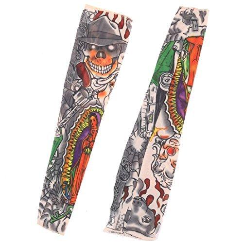 DealMux Nylon Clown Drucken Home Outdoor Angeln Sport Kochen Arm-Schutz-Abdeckung Sleeve 2ST - Drucken Clown