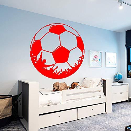 Ajcwhml Maßgeschneiderte fußball wandaufkleber persönlichkeit kreative kinderzimmer fußball Dekoration wandhauptdekoration 43 cm X 43 cm