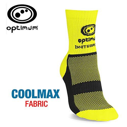 OPTIMUM Nitebrite Winterfahrradsocken für Herren, hohe Sichtbarkeit XL fluoreszierendes gelb