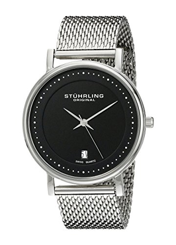 Stuhrling Original Classic Ascot Casatorra Elite Herren-Armbanduhr Analog Quarz Edelstahl - 734GM.02