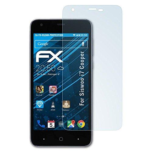 atFolix Schutzfolie kompatibel mit Siswoo i7 Cooper Folie, ultraklare FX Bildschirmschutzfolie (3X)