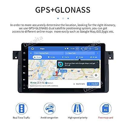 Dasaita-9-Android-90-1-Din-Autoradio-Touchscreen-GPS-mit-4G-RAM-32G-ROM-fr-BMW-3-Series-E46-BMW-M3-1999-2000-2001-2002-2003-2004-2005-DAB-Autoradio-mit-Navi-Untersttzt-WiFi-USB-Lenkradsteuerung
