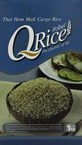 Preisvergleich Produktbild Q rice Jasminreis,  braun,  Langkorn,  2er Pack (2 x 1 kg)