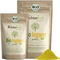 Bio Ingwerpulver (500g) | Ingwer gemahlen | Ingwerwurzel gemahlen perfekt fuer Ingwertee Ingwertinktur Ingwerwasser oder zum Kochen