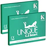 2 x KAMYRA Unique C.2 Smart (PRE-ERECTION) Condom Card, grün - DOPPELPACK