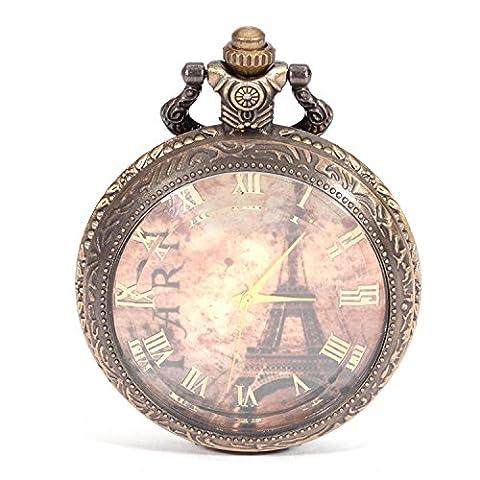 HAHA Table de verre rétro Pocket Watch Tuo