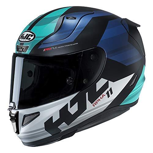 Casco Moto Hjc Rpha 11 Naxos Blu (M, Blu)