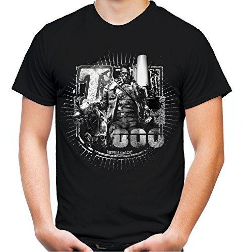 Terminator Männer und Herren T-Shirt | Spruch Comic T800 Geschenk | M4 (XL, Schwarz)