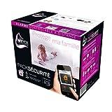 Myfox HC2 - Pack de alarma IP para seguridad central (sensor TAG, mando con 4 botones, sensor infrarrojo, alarma por radio)