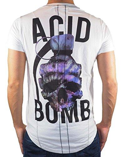 Religion Acid Bomb - T-Shirt - Weiß MBADF30013W - S, Weiß (Print Bomben T-shirt)