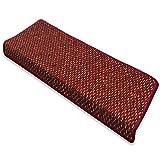 casa pura Stufenmatte Rot | Qualitätsprodukt aus Deutschland | Gut Siegel | Kombinierbar mit Läufer | 65x23,5 cm | rechteckig | Einzelne Matte