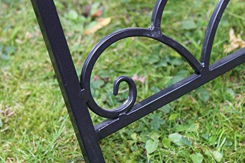 Kingfisher schwarz Mosaik-Effekt Beistelltisch Outdoor Garten Patio-Möbel Set - 4