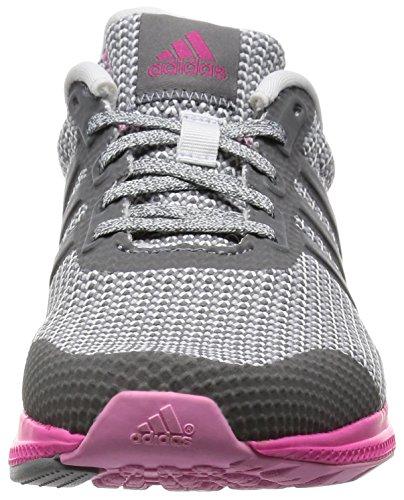 adidas Mana Bounce W, Scarpe da Corsa Donna Multicolore (Gris / Negro / Rosa (Grivis / Balcri / Rosimp))