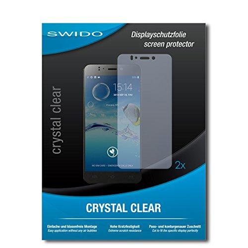 SWIDO Schutzfolie für Jiayu S2 Advanced [2 Stück] Kristall-Klar, Hoher Härtegrad, Schutz vor Öl, Staub & Kratzer/Glasfolie, Bildschirmschutz, Bildschirmschutzfolie, Panzerglas-Folie
