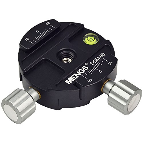 MENGS® DDM-60 Dual-Schnellwechselplatte Klemme kompatibel mit Arca-Swiss